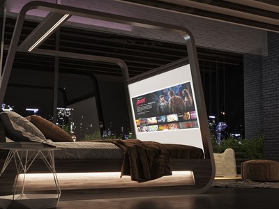 義大利推配備70吋4K螢幕的智能床