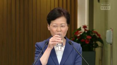 香港行政會議提早復會 林鄭記者會多次被打斷草草結束
