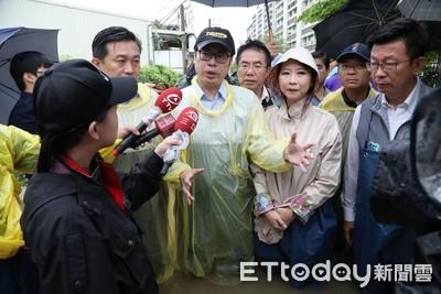 陳其邁視察三爺溪等淹水地區
