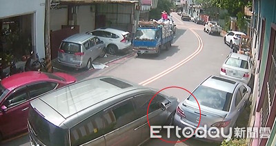 擦撞卻肇逃 肇事男遭監視器打臉