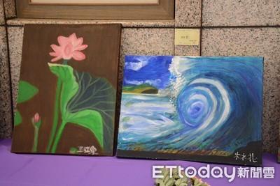 台東癌友畫出生命色彩 20件作品令人驚艷