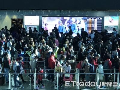 桃機飛香港航班  35航班受影響
