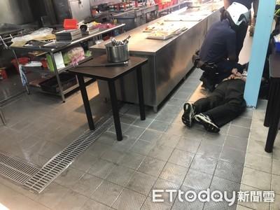自助餐店前員工薪資糾紛 持汽油要燒店…警及時趕到