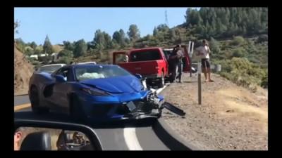 雪佛蘭C8 Corvette道路測試車禍