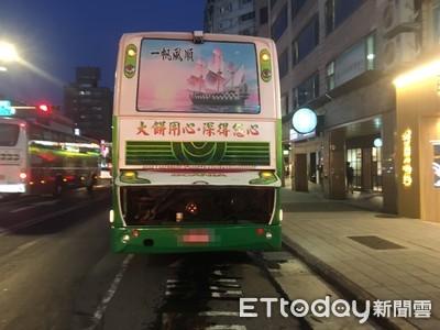 南京東路遊覽車漏油 6騎士接連雷殘