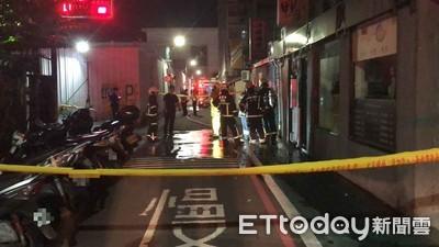 轎車暴衝撞瓦斯管 警封巷急救援