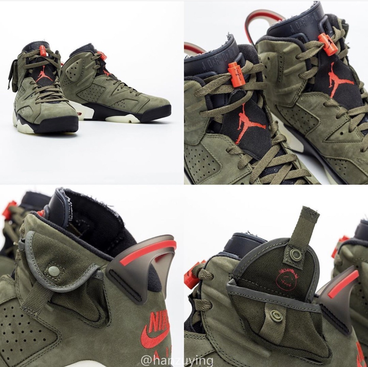 ▲Travis Scott X Air Jordan 6。(圖/翻攝自IG@hanzuying)