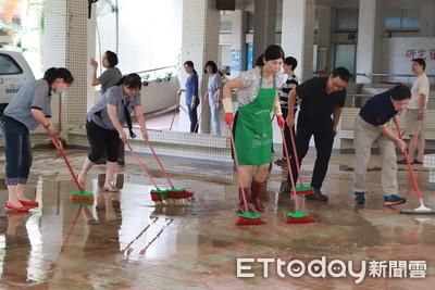 中華醫大淹水全體動員完成災後復原