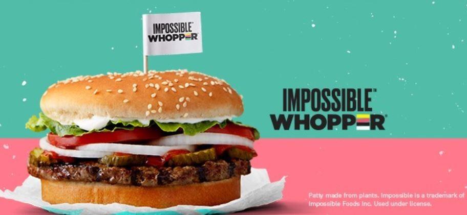 ▲漢堡王推出人造肉漢堡。(圖/facebook/burgerking)