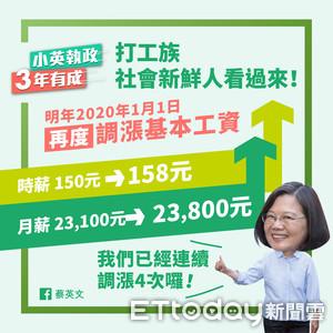 蔡英文:經濟有成長果實就該分享給人民