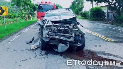 台九線追撞車禍 被撞駕駛滿頭血送醫