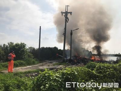台南市環保局強力取締露天燃燒
