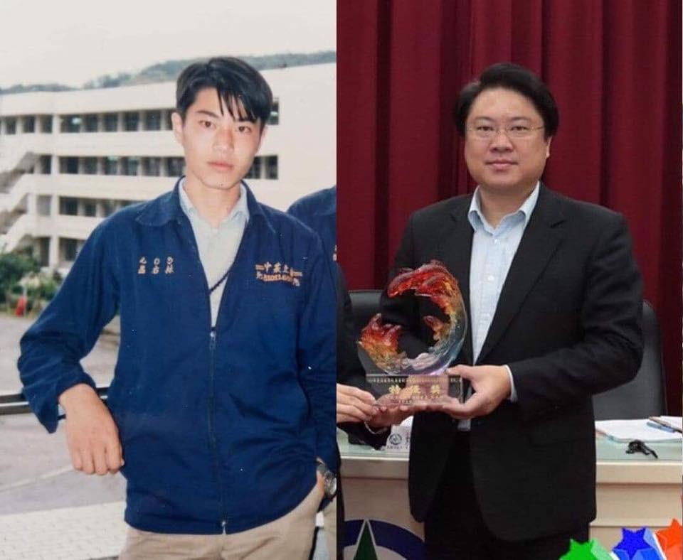 ▲▼基隆市長林右昌30年帥照曝光。(圖/翻攝自Facebook/貓與邪佞的手指)