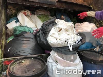 事業廢棄物混充當家戶垃圾丟垃圾車環保局破袋