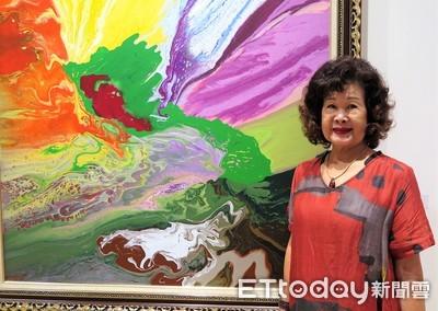 素人畫家蔡玉葉 74歲上海開油畫展