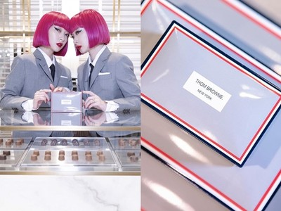 Thom Browne首家巧克力店大理石裝潢+質感包裝