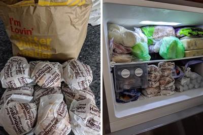 冷凍庫塞滿漢堡 網轟錢都花在醫藥費了