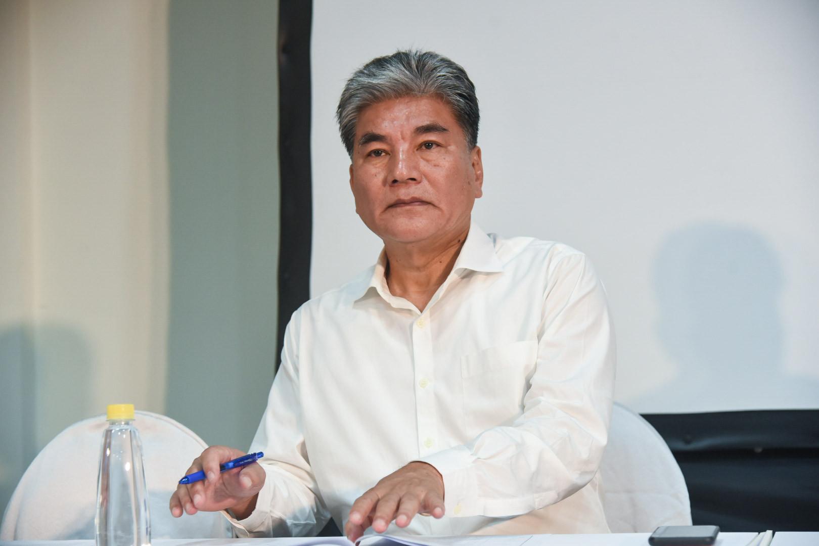 ▲韓國瑜國政顧問,副總召李鴻源。(圖/記者林敬旻攝)