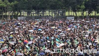 香港818民陣維園集會 銅鑼灣人車爭道