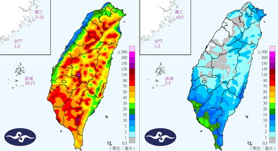 北北基12縣市大雨特報 全台連下2天防致災降雨