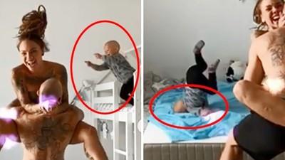 拍到3歲兒「脖子後折90度」!網紅夫妻直覺點閱會好 不顧傷勢急PO影片
