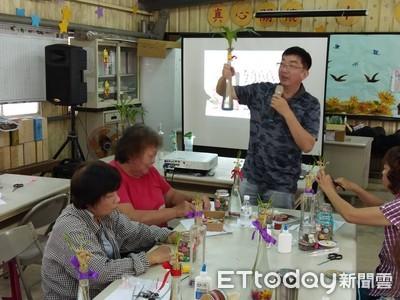 中華醫大讓長者體驗園藝療癒