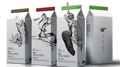 每喝一瓶=把吸管插進海龜鼻孔!台師生設計「警世包裝」拿下紅點大獎