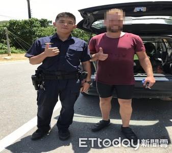 法籍鐵馬遊客體力透支 恆警護送圓環臺夢