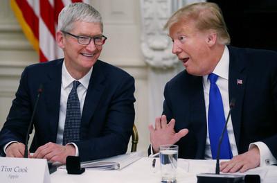 關稅不再困擾蘋果? 川普放話幫助「這是一家偉大的美國公司」