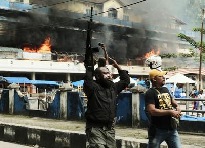 縱火建築物 印尼巴布亞28人被捕