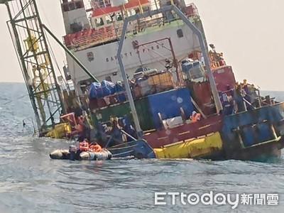 印尼船彰化外海傾斜海巡救出40人