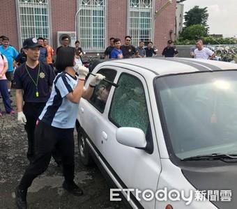 警演練破窗技巧 有效提昇執勤安全