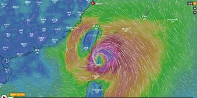 胖白鹿觸陸倒數 超大豪雨彈炸花東、大台北防強風