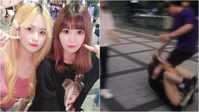 18歲日女被扯髮猛揍! 首爾反日歐巴狂言「賤種來一個打一個」