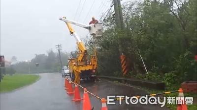 新北停電數曾29077戶 今晚10點前修復