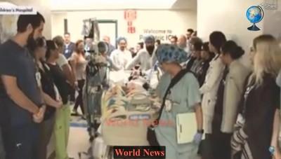美童器捐救81人 醫護列隊送別