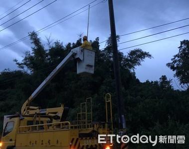颱風造成台南停電6000餘戶台電緊急搶修