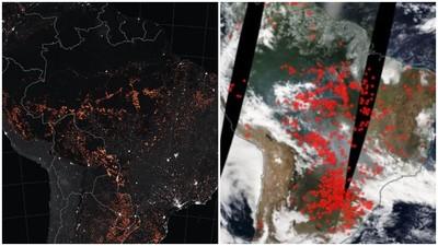 亞馬遜野火狂燒 NASA公布衛星圖「噁心密集紅點」覆蓋