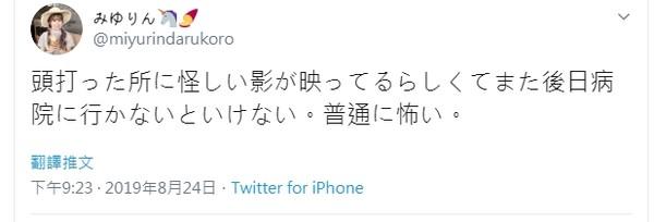 ▲▼Miyurin反駁施暴男沒有打人。(圖/翻攝自推特/miyurindarukoro)
