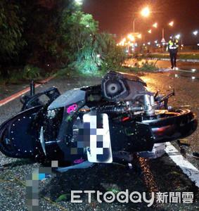 南檢:機車撞擊路樹腋下背部裂傷併大量出血亡