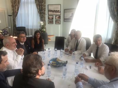 伊朗外長受馬克宏邀請 意外現身G7