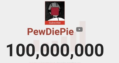 PewDiePie訂閱破億!YouTube官方發布影片慶賀