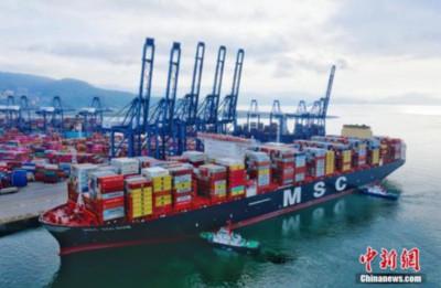 深圳今年前7個月進出口總額達1.58兆人民幣