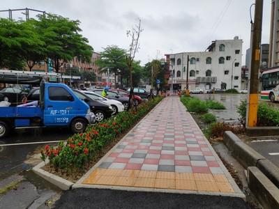 竹縣爭取前瞻5740萬 人行道改善完工