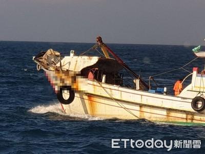 漁船與貨輪擦撞 海巡戒護回台中港