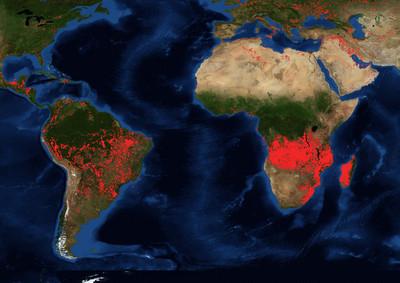 比亞馬遜多5倍 中非破萬野火燃燒
