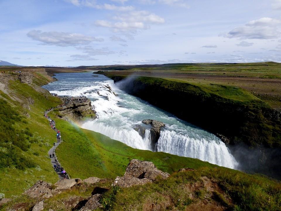 ▲▼冰島,雷克雅維克,黃金瀑布,哈爾格林姆教堂。(圖/取自免費圖庫Pixabay)