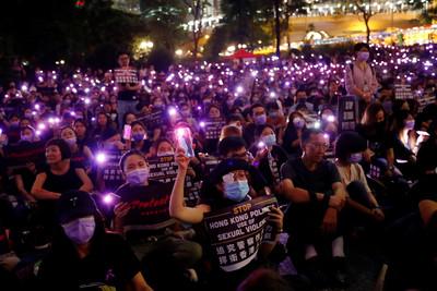 港metoo集會 抗議港警全裸搜身