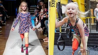 「不能忘記微笑!」無腿女孩戴義肢自信走秀 連紐約時裝周都邀她參加