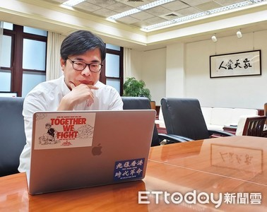 陳其邁聲援黃之鋒:勇者無懼,香港加油!